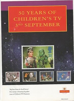 1996 Post Office A4 Poster Grille Card - Children.s TV