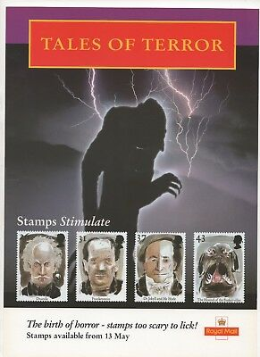 1997 Post Office A4 Poster Grille Card - Tales of Terror