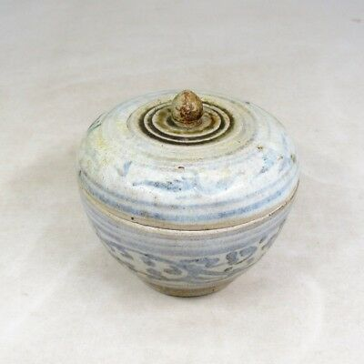 F191: Southeast Asian old porcelain covered case of SUNKOROKU from Thailand. 2
