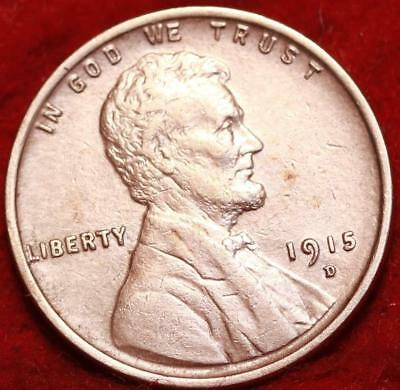 Uncirculated Red 1915-D Denver Mint Copper Lincoln Wheat Cent