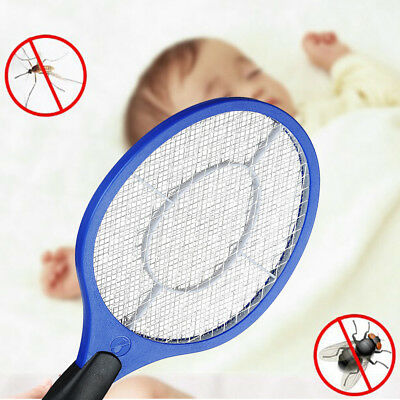 Electric Fly Insect Racket Zapper Killer Swatter Bug Mosquito Wasp Electronic CN