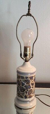 AutoMax New York Floral Pattern Ceramic Lamp
