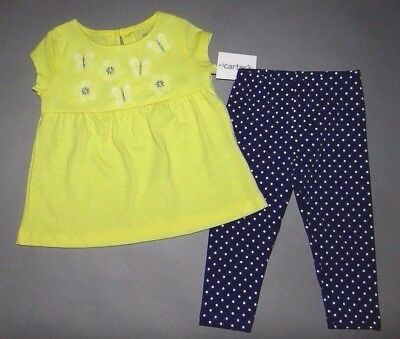Baby girl clothes, 9 months, Carter's Bright Adorable 2 piece set