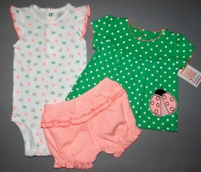 Baby girl clothes, Newborn, Just One You by Carter's 3 piece diaper set