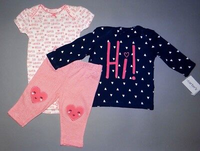 Baby girl clothes, 12 months, Carter's Little Baby Basics 3piece set/New Arrival