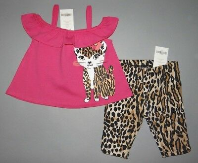 Baby girl clothes, 6-12 months, Gymboree Animal print Capri's, top/New!/ 1/2 OFF