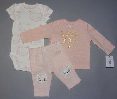 Baby girl clothes, 18 months, Carter's Little Baby Basics3 piece set/New Arrival