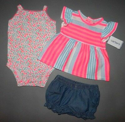 Baby girl clothes, 6 months, Carter's Diaper-Cover 3 piece set
