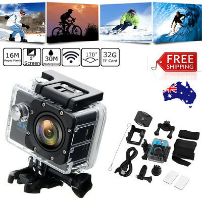 Ultra HD 1080P WiFi 2.0'' Action Sports Camera DV Waterproof w/Remote