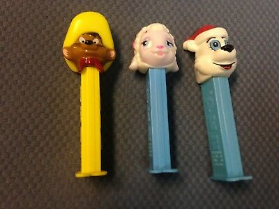 Vintage Speedy Gonzales Pez Dispenser Plus Icee Polar Bear Santa Hat Easter Lamb