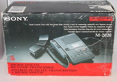 SONY M-2020 Microcassette Dictator Transcriber (Rare- Never Used in Box)