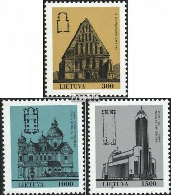 Lithuania 511-513 (complete issue) unmounted mint / never hinged 1993 Architectu