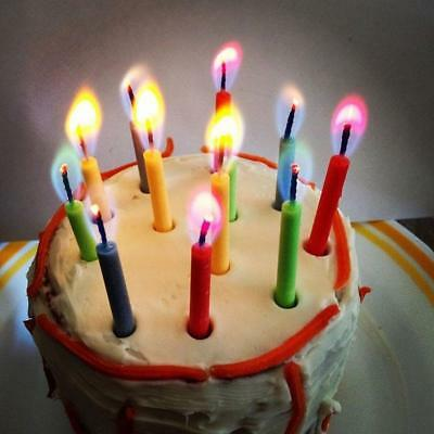 12pc Colored Flame Magic Candles Birthday Cake Angel Flame Party Celebration .A