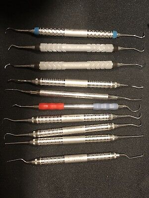 Lot Of 10 Assorted Scalers And Curettes Majority HuFriedy