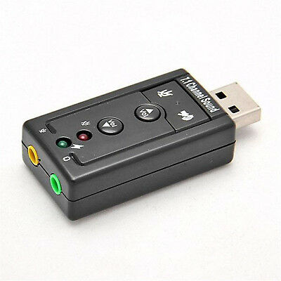 USB 2.0 To 3D Audio Sound Card External Adapter Virtual 5.1 CH Mic Headphone UP