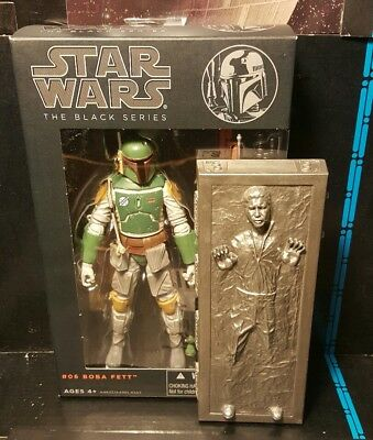 "Star Wars The Black Series 6"" BOBA FETT # 06 / Han solo Carbonite"
