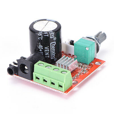 12V Mini Hi-Fi PAM8610 Audio Stereo Amplifier Board 2X10W Dual Channel D Class'