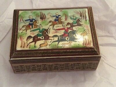 Chinese Design Lacquered Trinket Box