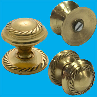 10x 25mm Georgian Solid Brass Cabinet, Cupboard, Drawer Furniture Door Knobs