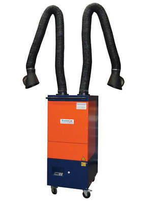 Allclear Cartmaster German Made Mobile Fume Extraction System 2 X 3M Hose