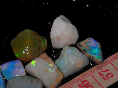 Quality Natural Rough Mixed Type Opals Small Rubbed Rubs Bright Fires 51,30 Cts