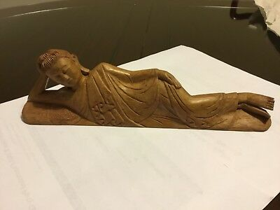 Wood-Carving-Sleeping Buddha