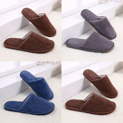 Men's Winter Warm Home Slipper Slip-on Cotton Slippers Indoor Shoes Flat
