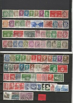 Briefmarkenlot  Norwegen O  siehe Scan  / Lot  2943