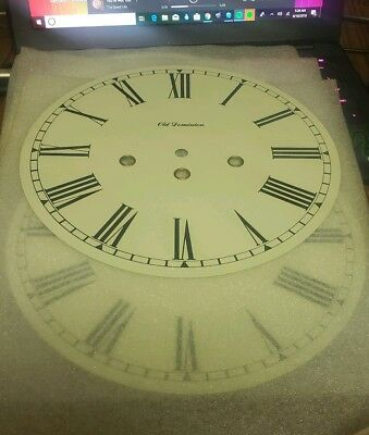 "Vintage 9.5"" Old Dominion Clock Dial Face (Grandfather/Mantle/Wall) Replacement"