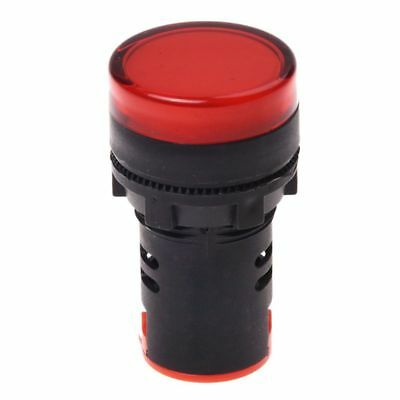 AC 220V Red LED Power Indicator Pilot Single Light Lamp 22mm P2I4 SHJ