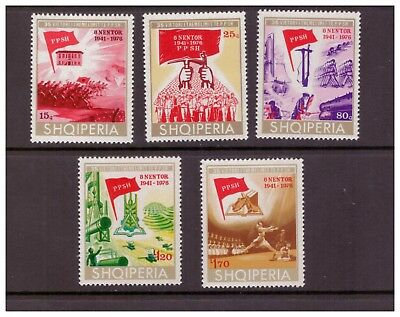 Albania MNH 1976 Albanian Labour Party Anniv.History set mint  stamps