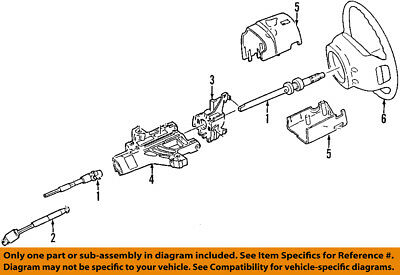 ford oem steering column-lower shaft & joint assembly 8l2z3b676b