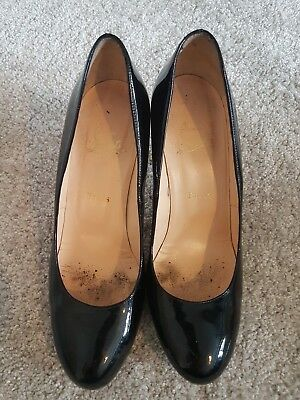 Womens Used Christian Louboutin Shoes Size 7 Black