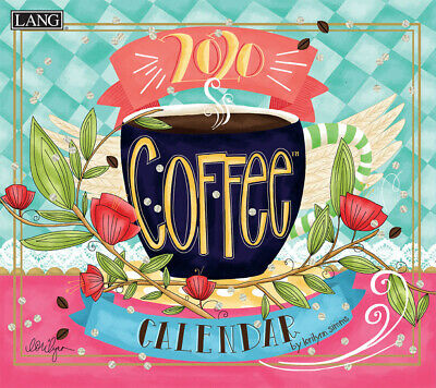 NEW Coffee Lisa Kaus 2019 Lang Wall Calendar Packed Well Free Postage