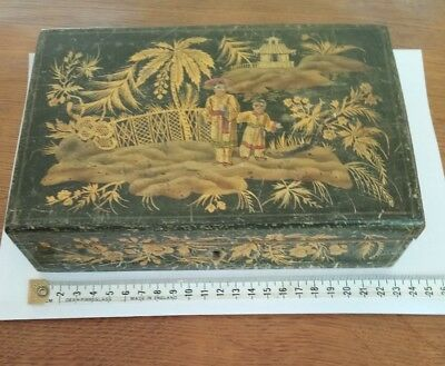 Chinoiserie Victorian Lacquered box