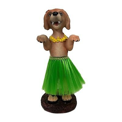 Dashboard Hula Dog Golden Retriever Bobblehead