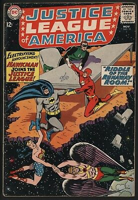 Justice League Of America #31 Hawkman Joins! Great Value Glossy Cents Copy