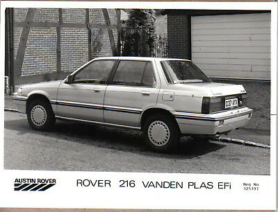 Rover 216 Vanden Plas EFi original b/w Press Photograph Pub. No. 325197