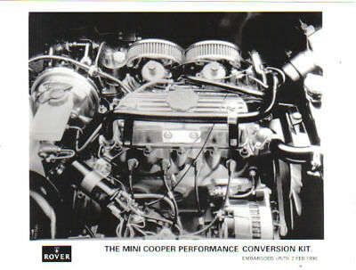 Rover Mini Cooper Performance Conversion Kit 1990 original b/w Press Photograph