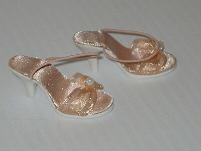 """ROBERT TONNER Kitty Collier 18"""" Doll PINK HEELS Shoes w/ FAUX PEARL ACCENT"""