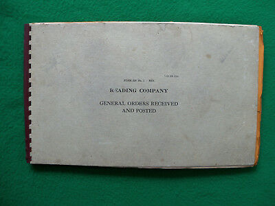 Reading RR RDGCO Book of General Orders Reading Division Oct 1959 to March 1960