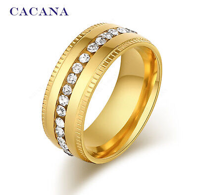Cacana Ring | Titan Gold Muster Diamanten | Damen Frauen | Luxuriös | Edelmetall