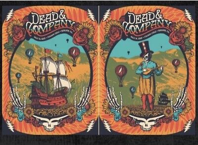 Dead And Company Poster Official Set (2) Boulder Folsom CO S/N Matching #'s