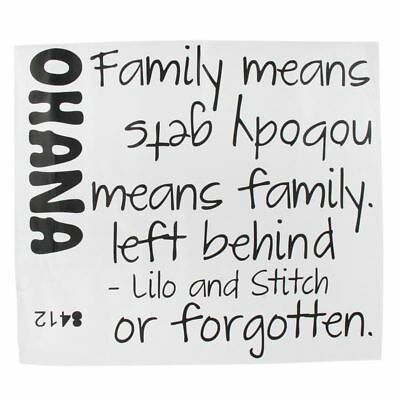ohana means family - wall art sticker decal - £5.20 | picclick uk
