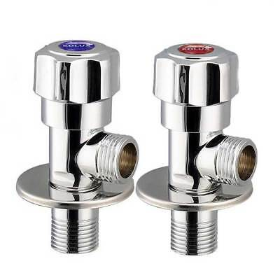 Brass Valve Brushed Bathroom Angle Valve for Toilet Sink Basin Water Heater 1/2""