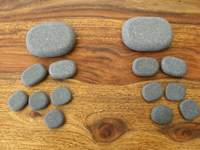 Hot Stone Massage, Set 7 tlg., Basaltsteine