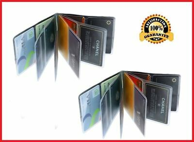 Wonder Wallet Inserts 2pc 12 Page Plastic Replacement Unisex Slim Comfortable US
