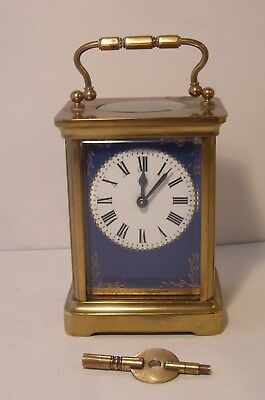Rare Superb Duverdrey & Bloquel 8 Day Carriage Clock (Working With Key)