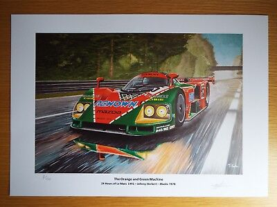 Limited Edition Mazda 787B 24 hours of Lemans Artwork Print A3