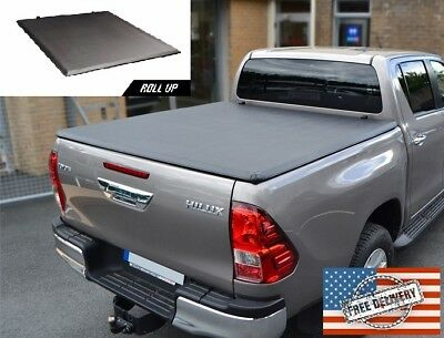 For 16-17 Toyota Hilux Revo Double Cab Soft roll up Tonneau Cover 5' Feet
